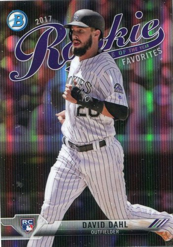 Photo of 2017 Bowman Chrome Rookie of the Year Favorites Refractors #ROYF8 David Dahl