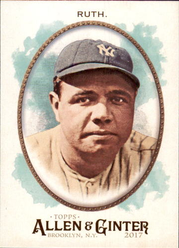 Photo of 2017 Topps Allen and Ginter #4 Babe Ruth -- Hall of Fame Class of 1936