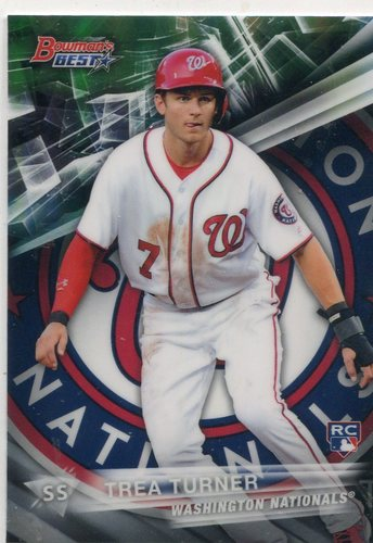 Photo of 2016 Bowman's Best Refractors #58 Trea Turner