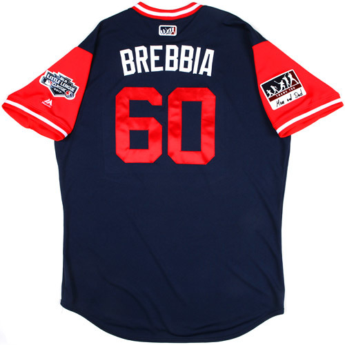 """Photo of St. Louis Cardinals Game-Used Little League Classic Jersey -  John """"Brebbia"""" Brebbia #60"""