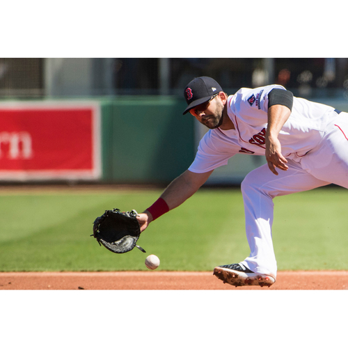 Photo of Red Sox Foundation Game Day - Mitch Moreland Team-Issued or Game-Used and Autographed Jersey (Pre-Game Sale)