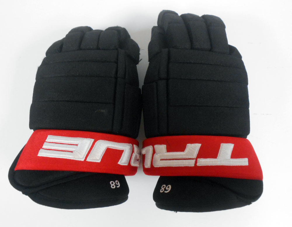 68 Mike Hoffman Game Used Gloves Ottawa Senators Nhl Auctions