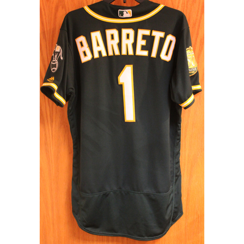 Photo of Franklin Barreto 2018 Game-Used Jersey