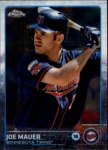 Photo of 2015 Topps Chrome #4 Joe Mauer