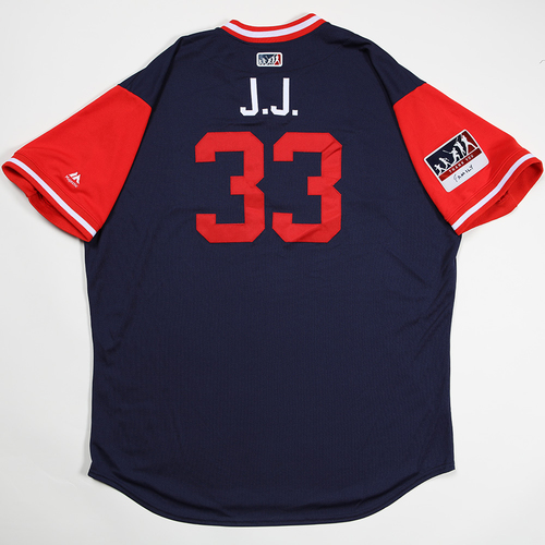 "Photo of Jim ""J.J."" Johnson Los Angeles Angels Game-Used 2018 Players' Weekend Jersey"