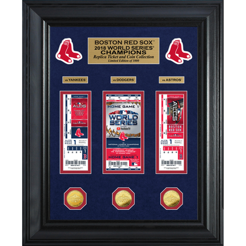 Photo of Boston Red Sox 2018 World Series Champions Deluxe Gold Coin & Ticket Collection