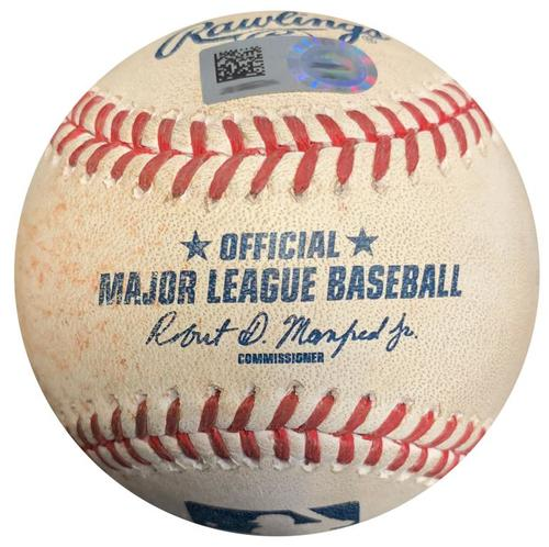 Photo of Game-Used Baseball from Pirates vs. Reds on 9/10/16 - Francisco Cervelli RBI Single