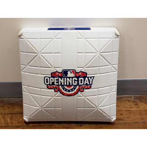 Photo of Game-Used Opening Day Base: Oakland Athletics at Seattle Mariners - 3rd Base Used in 7th Inning - 4/8/16