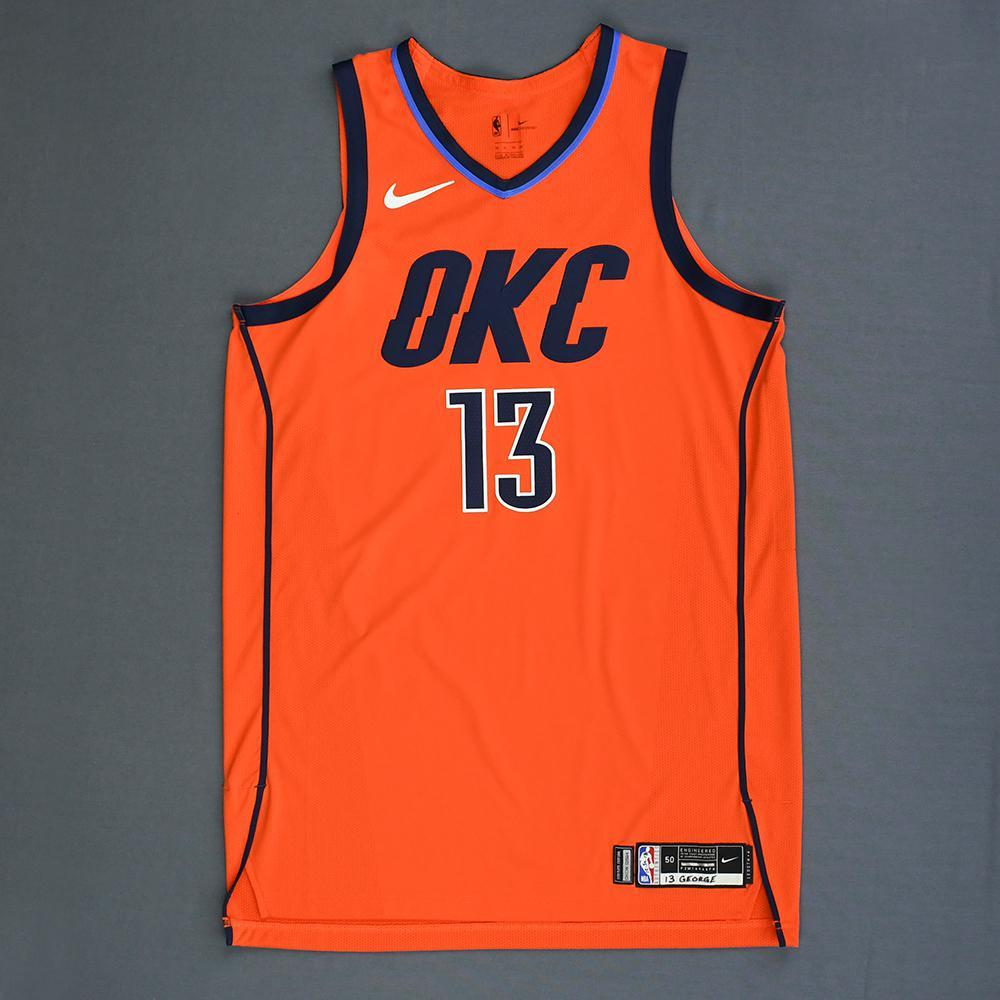 Paul George - Oklahoma City Thunder - Game-Worn Earned Statement Edition Jersey - Game-High 36 Points - 2018-19 Season