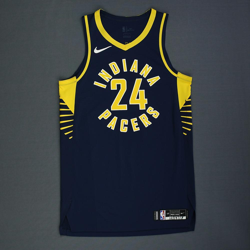 Alize Johnson - Indiana Pacers - Rookie-Debut - Game-Worn Icon Edition Jersey - 2018-19 Season