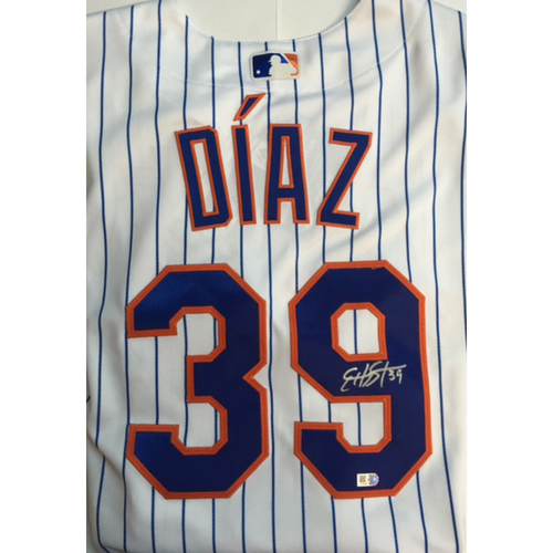 Photo of Edwin Diaz Autographed Authentic Mets Jersey