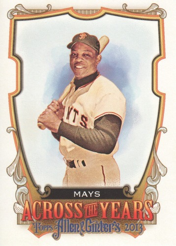 Photo of 2013 Topps Allen and Ginter Across the Years #WMY Willie Mays
