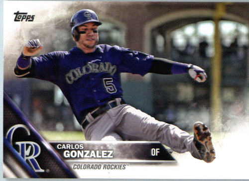 Photo of 2016 Topps #683A Carlos Gonzalez