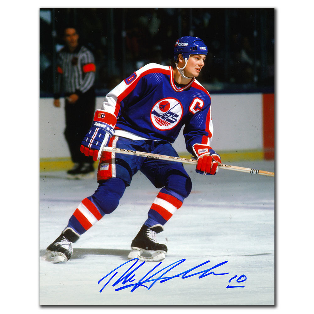 Dale Hawerchuk Winnipeg Jets CAPTAIN Autographed 8x10