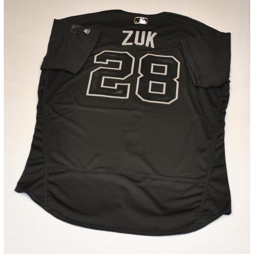 "Photo of Kurt ""ZUK"" Suzuki Washington Nationals Game-Used 2019 Players' Weekend Jersey"