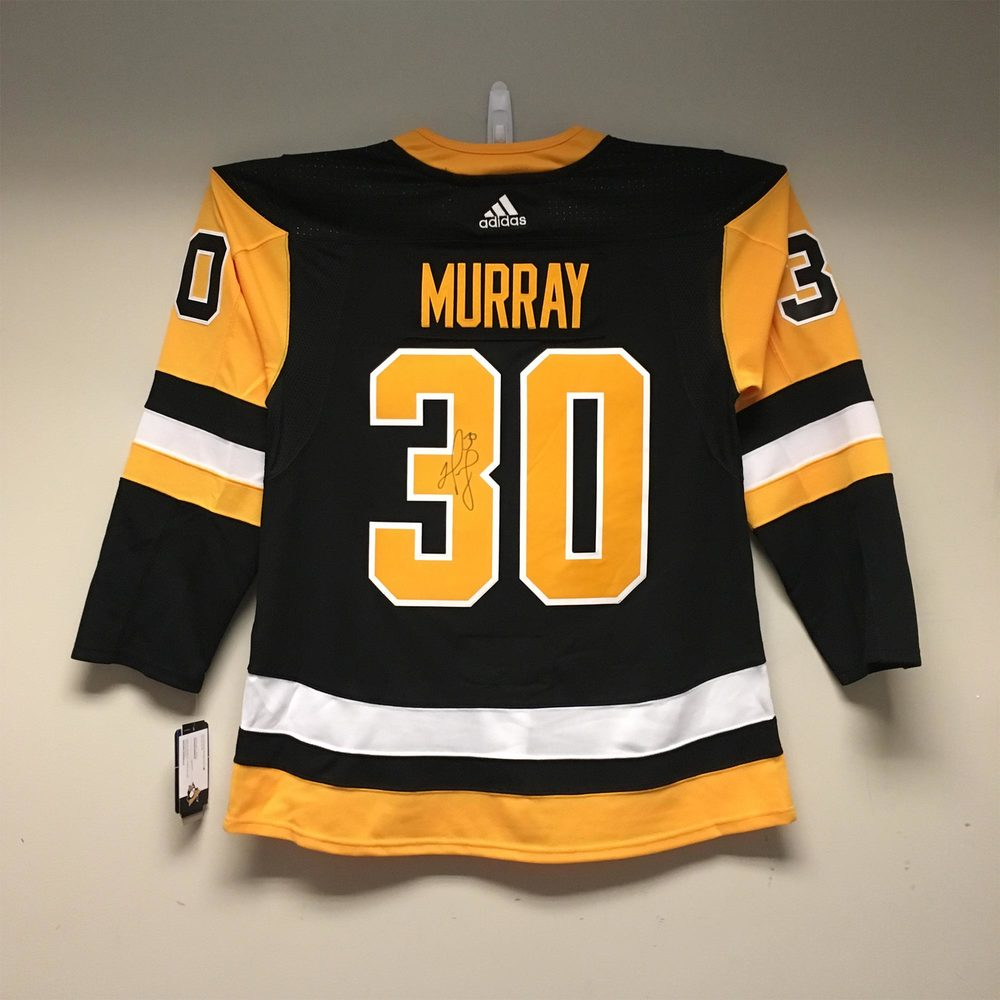 Pittsburgh Penguis adidas Jersey Signed by #30 Matt Murray