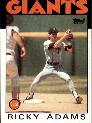 Photo of 1986 Topps #153 Ricky Adams