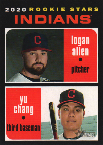 Photo of 2020 Topps Heritage #231 Logan Allen RC/Yu Chang RC