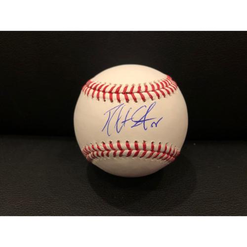 Photo of Reds Authentics: Robert Stephenson -- Autographed Baseball