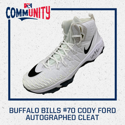 Photo of Buffalo Bills Cody Ford Autographed Cleat