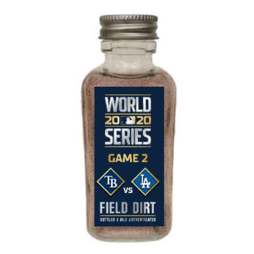 Photo of Game-Used Dirt Jar - 2020 World Series - Tampa Bay Rays v. Los Angeles Dodgers - Game 2