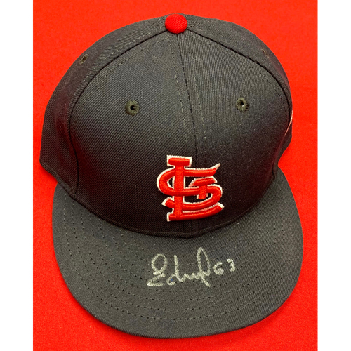 Photo of Edmundo Sosa Autographed Team Issued Road Cap (Size 7 3/8)