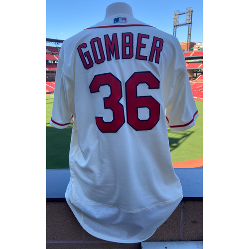 Photo of Cardinals Authentics: Team Issued Austin Gomber Home Alternate Ivory Jersey