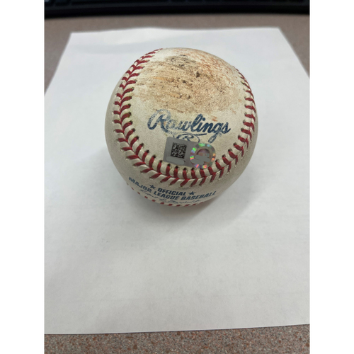 Photo of Game- Used Baseball- J.P. Crawford singles off pitcher Zach Plesac-Indians at Mariners 5/13/21