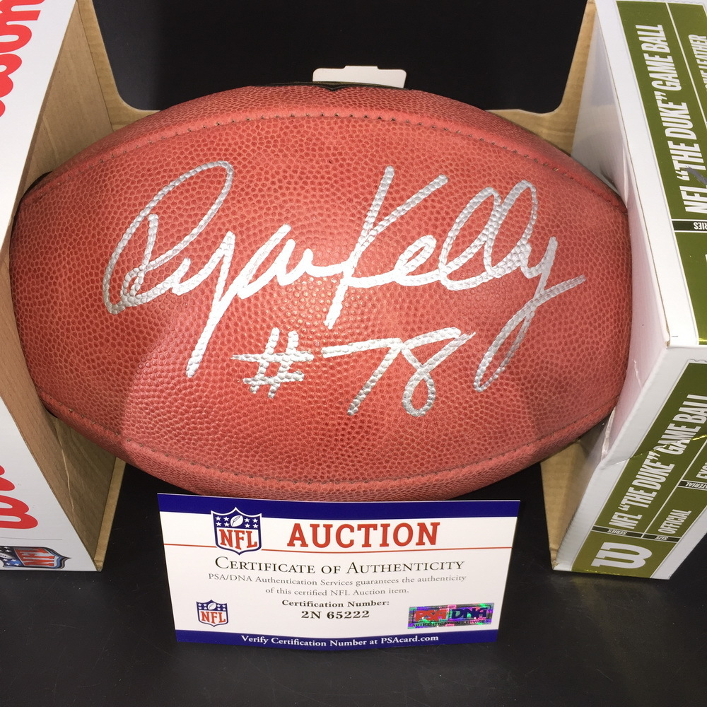 NFL - Colts Ryan Kelly Signed Authentic Football