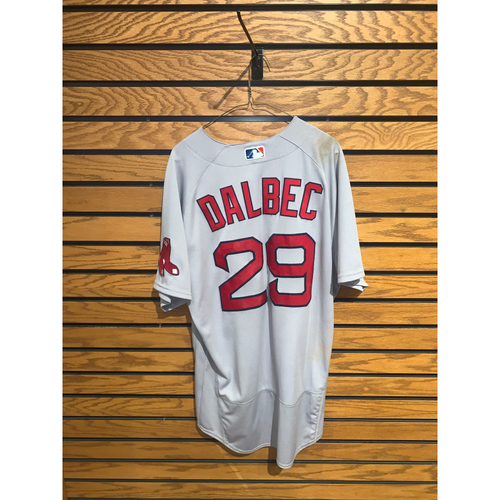 Photo of Bobby Dalbec May 9, 2021 Game Used Road Jersey