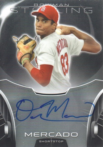 Photo of 2013 Bowman Sterling Prospect Autographs #OM Oscar Mercado