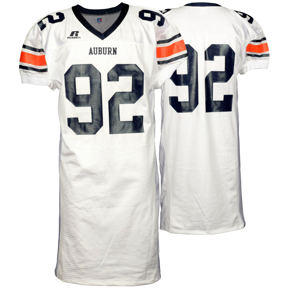Auburn Tigers Game-Used 2003-2005 Russell White Football Jersey #92 - Size XL