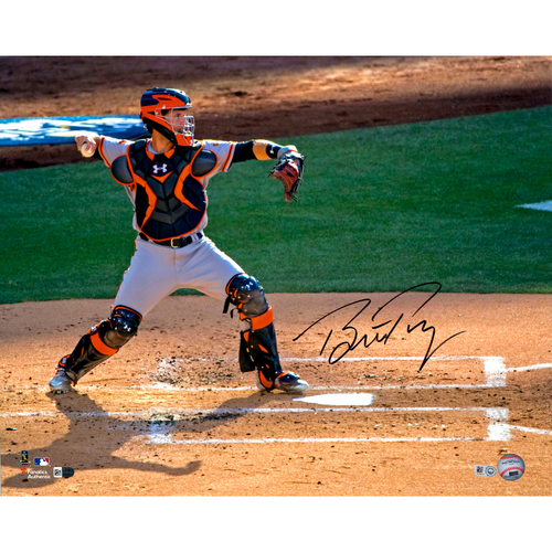 "Photo of Buster Posey San Francisco Giants Autographed 16"" x 20"" Throwing to Second Photograph"