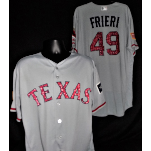Ernesto Frieri 2017 Game-Used Stars and Stripes Jersey