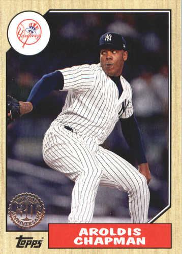 Photo of 2017 Topps Update '87 Topps #US8741 Aroldis Chapman
