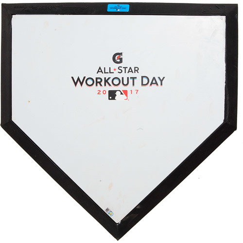 Photo of 2017 ASG Workout Day: Game-Used Commemorative Home Plate, Used during American League Batting Practice