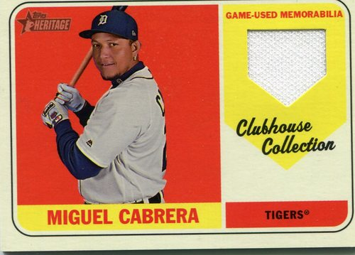 Photo of 2018 Topps Heritage Clubhouse Collection Relics #CCRMC Miguel Cabrera