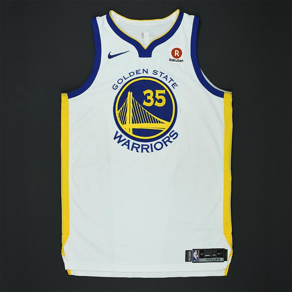 Kevin Durant - Golden State Warriors - 2018 NBA Playoffs Game-Worn Jersey - Plus 8 Regular Season Games