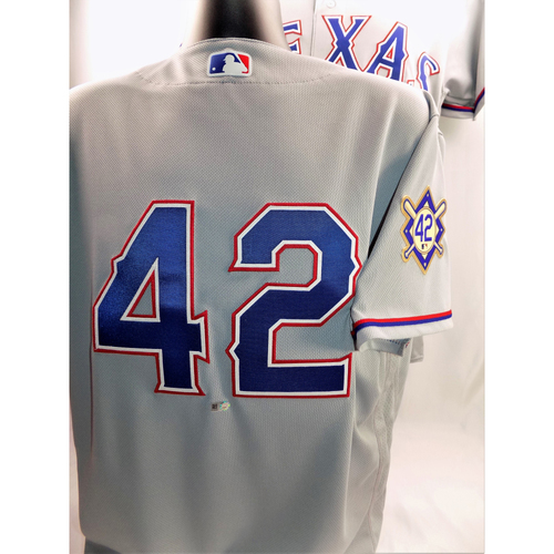 Photo of Game-Used Jackie Robinson Day Jersey - Ryan Rua  - Size 44 - 4/15/2018