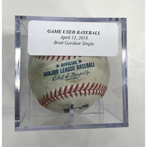 Photo of Game-Used Baseball: Brett Gardner Single