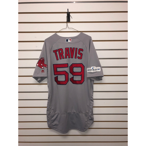 Photo of Sam Travis Game Used September 23, 2017 Road Jersey
