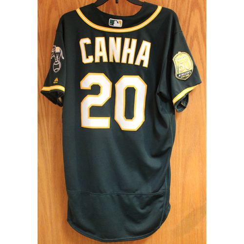 Photo of Mark Canha 2018 Game-Used Jersey