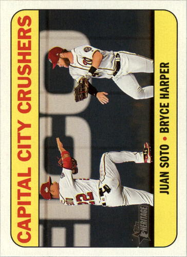 Photo of 2018 Topps Heritage Combo Cards #CC9 Juan Soto/Bryce Harper