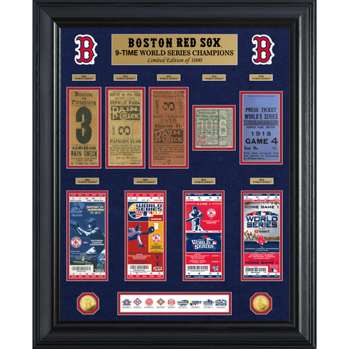 Photo of Boston Red Sox 9-Time World Series Champions Gold Coin & Ticket Collection