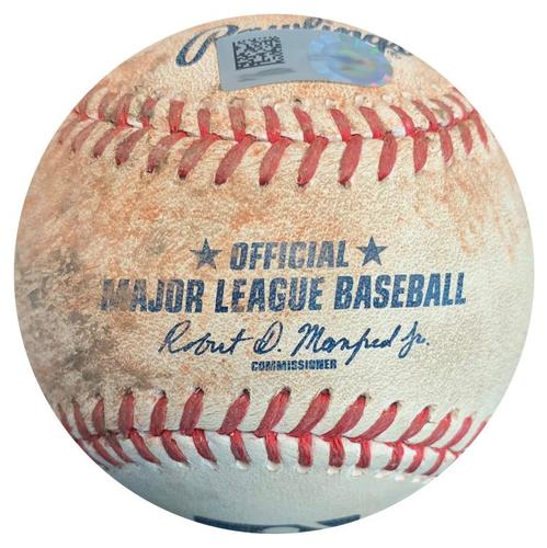 Photo of Game-Used Baseball from Pirates vs. Astros on 8/23/16 - Andrew McCutchen RBI Double