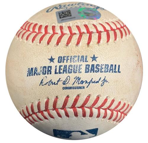 Photo of Game-Used Baseball from Pirates vs. Nationals on 5/16/17 - Trea Turner Ground Out