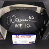 HOF - Steelers Dermonti Dawson Signed Commemorative Black Hall of Fame Football