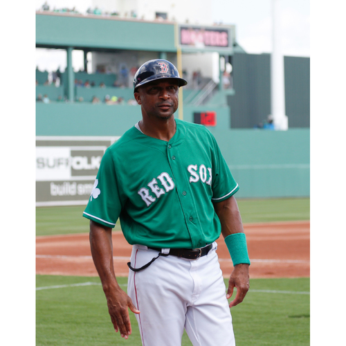 Photo of Red Sox Foundation St. Patrick's Day - Tom Goodwin Game-Used and Autographed Jersey