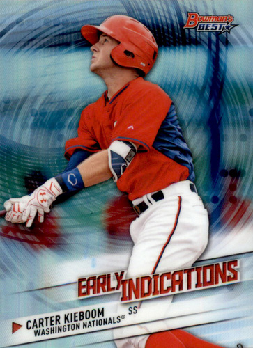Photo of 2018 Bowman's Best Early Indications Refractors #EI19 Carter Kieboom