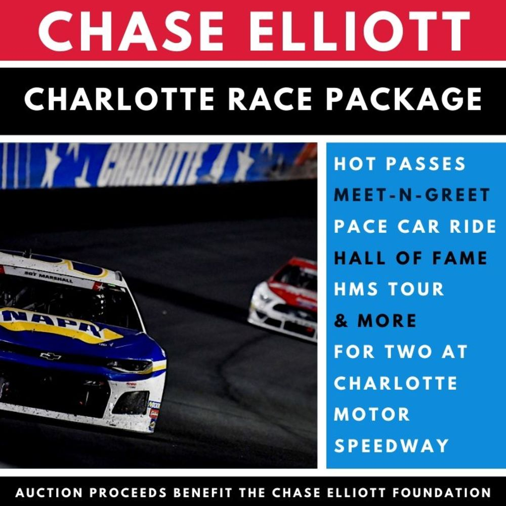 Chase Elliott Charlotte Race Fan Package